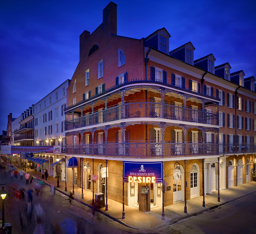 Luxury hotel on Bourbon Street