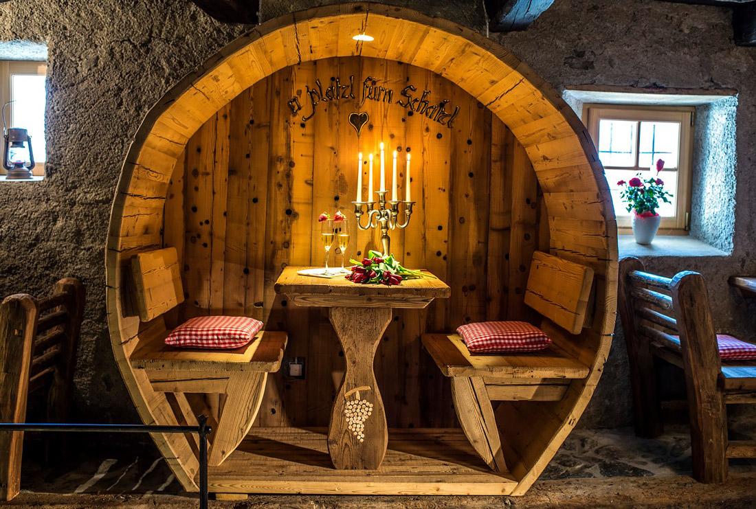 Rustic restaurant in South Tyrol