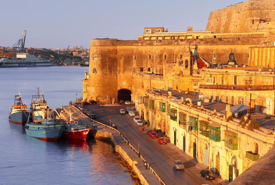Seaside city in Malta