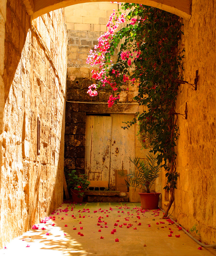 Alley in Valletta Old Town