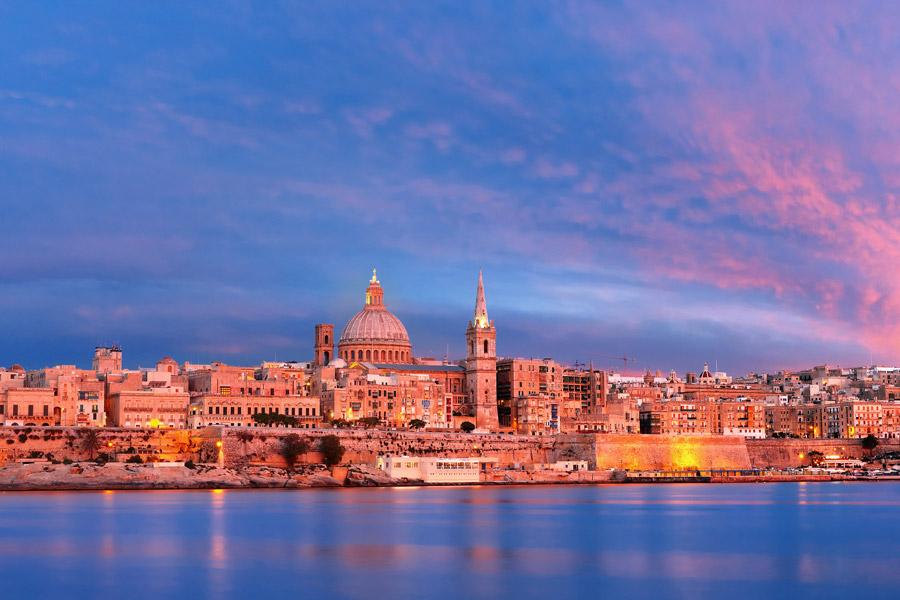 Sunset in Valletta