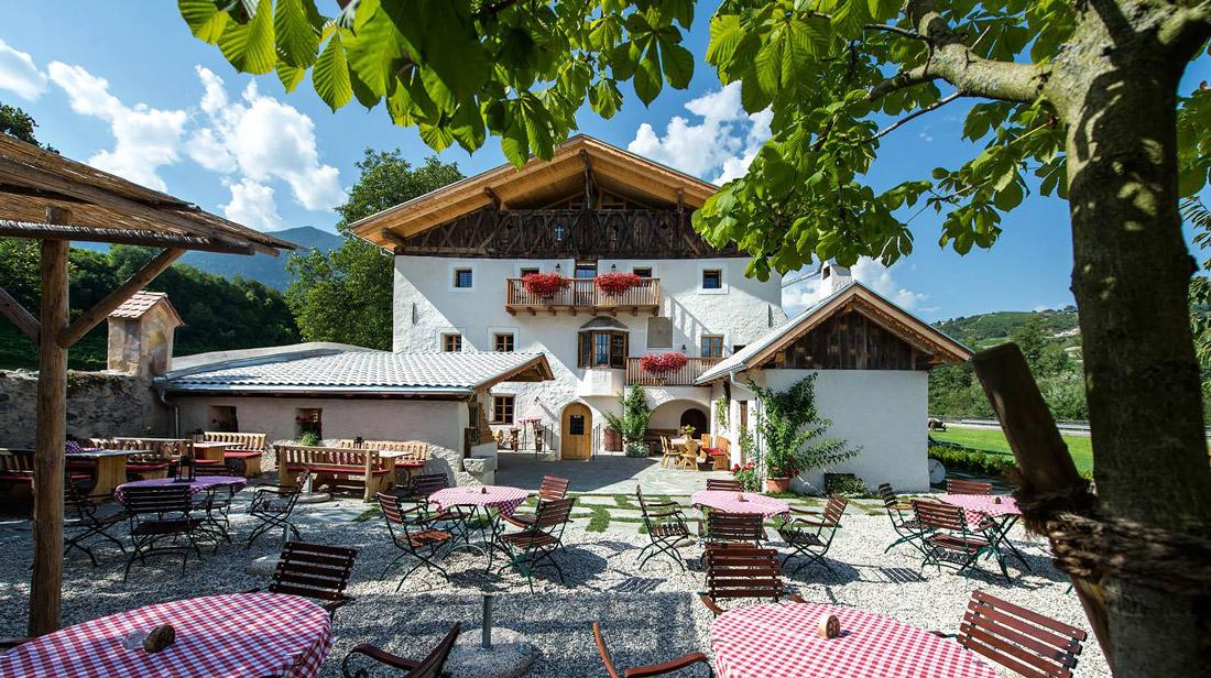 Hotel with beer garden