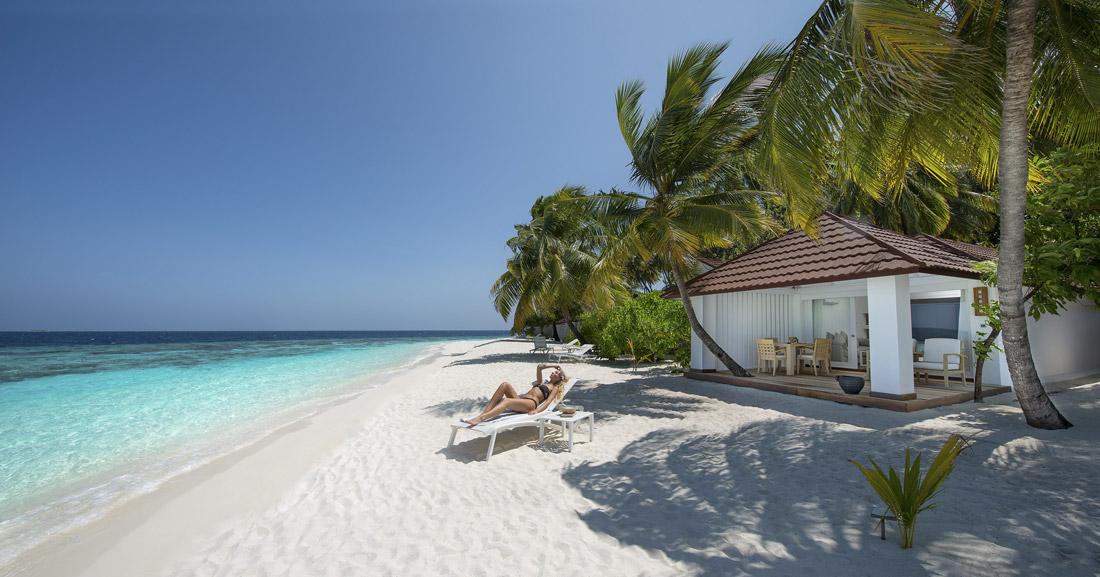Beach house in the Maldives