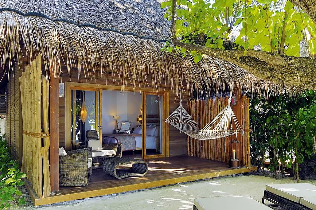 Beach house with hammock