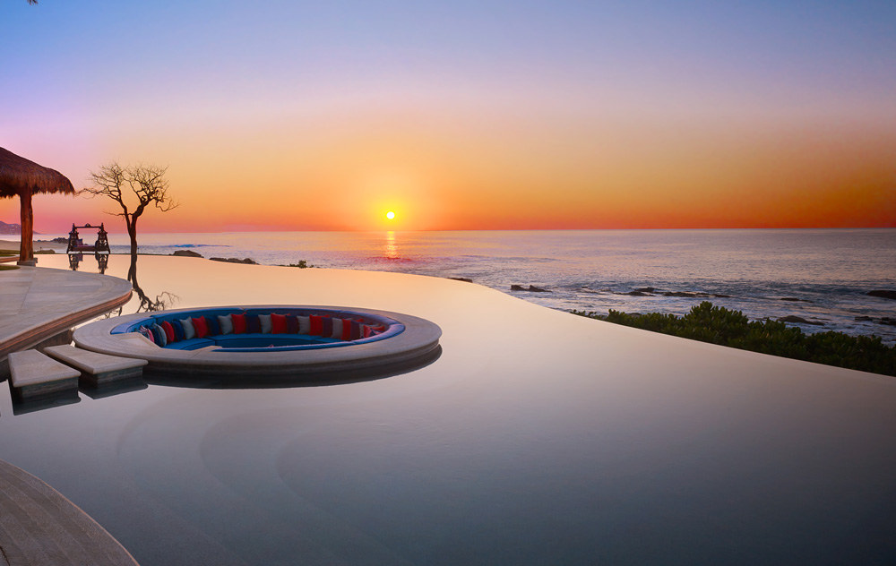 In-pool sunken seating area