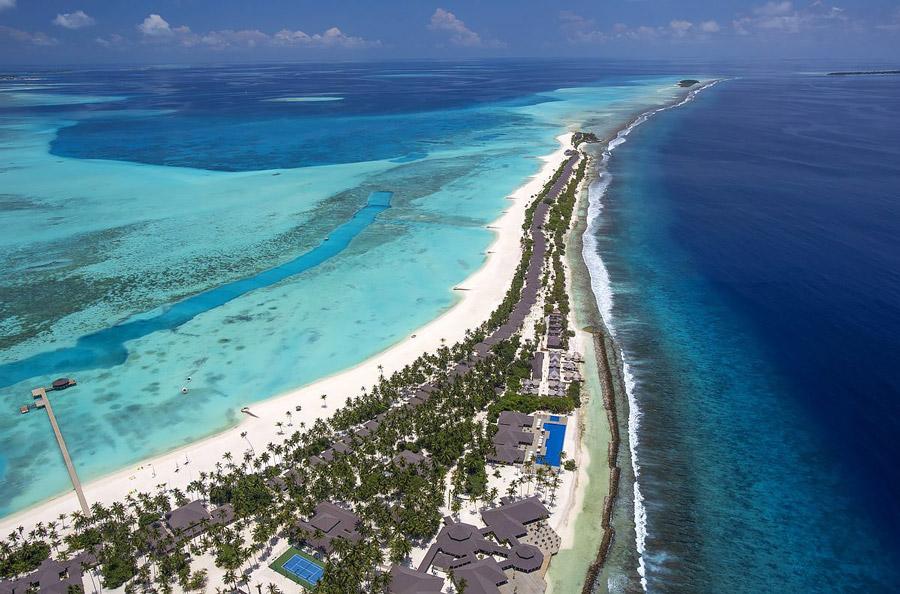 Island resort in the Maldives' Lhaviyani Atoll