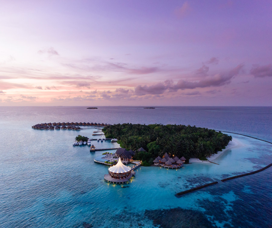 Small coral island in the Indian Ocean