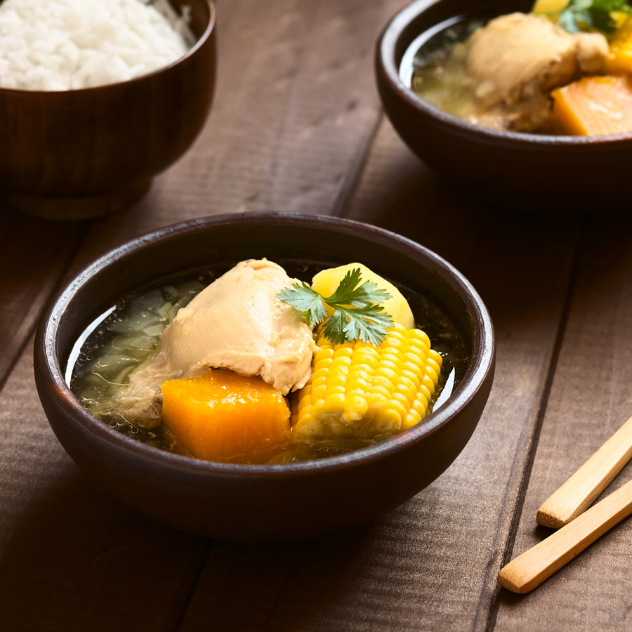 Chilean cazuela de pollo soup