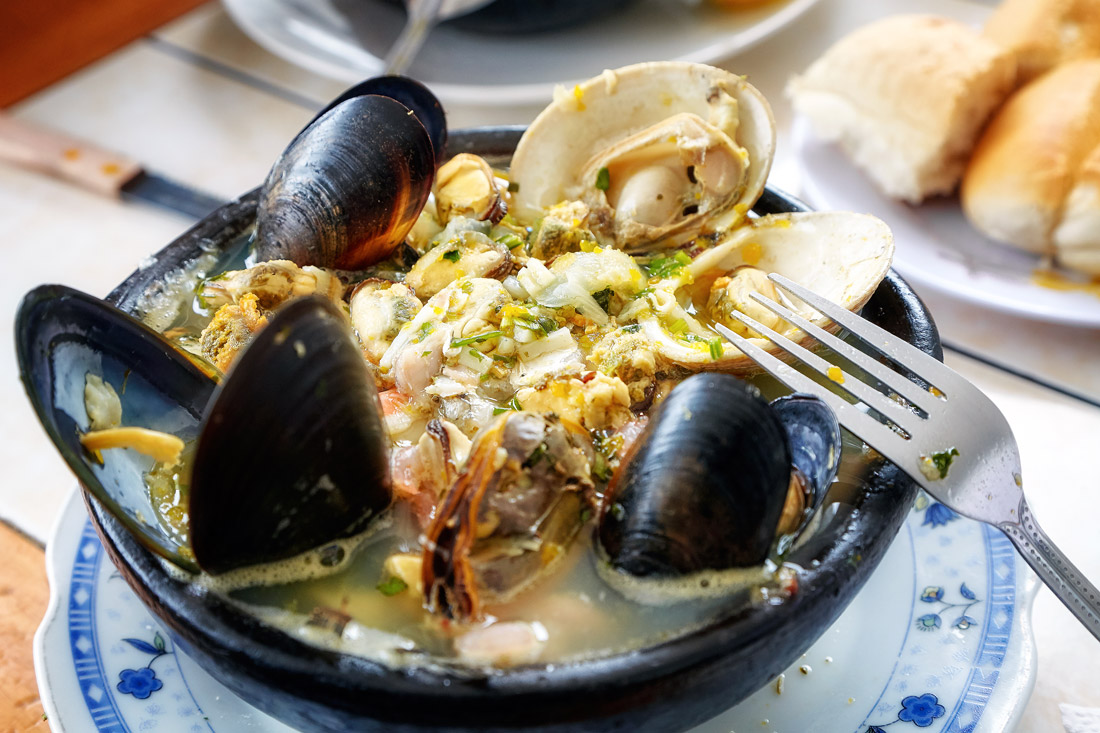 Traditional Chilean seafood soup
