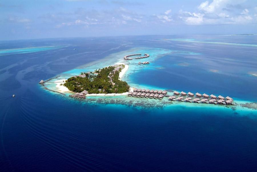 Island resort in the Maldives