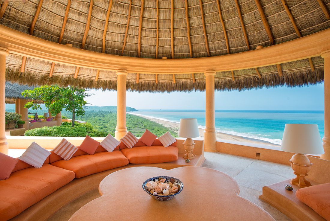 Terrace with beach views