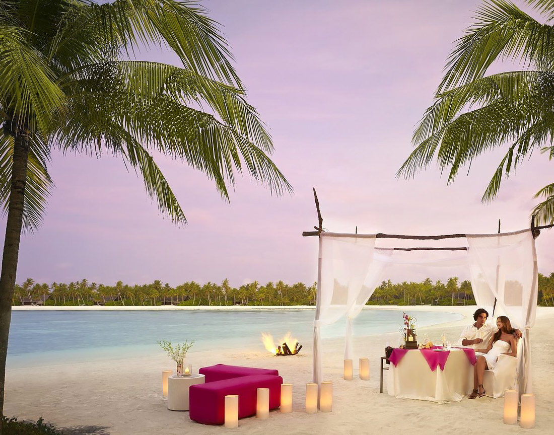 Beach lounging in the Maldives