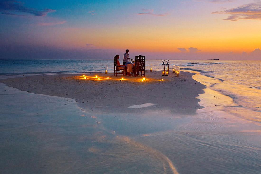 Dinner on a sandbank