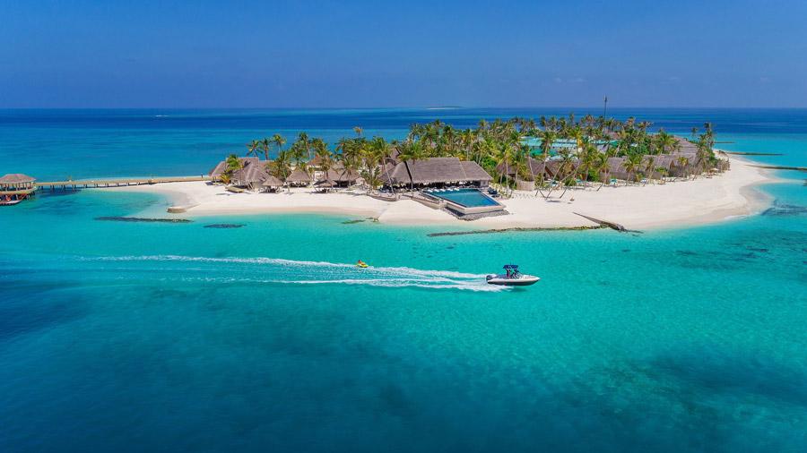 Luxury island hotel
