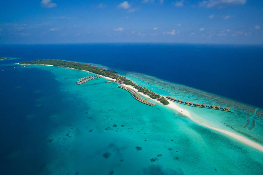 Aerial photography in Maldives