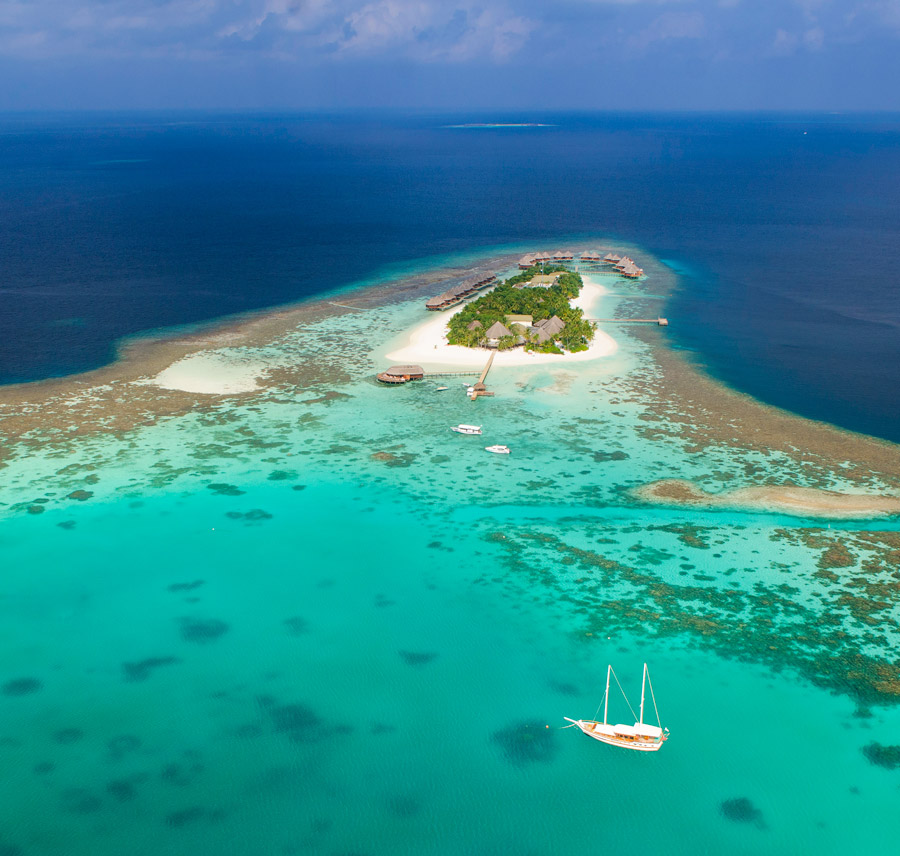 Tropical dream island in the South Ari Atoll