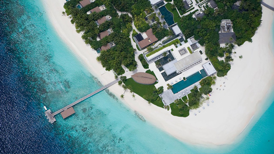 Luxury resort in the Maldives