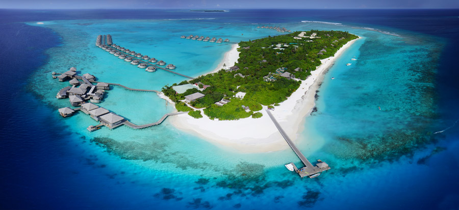 The only resort in the Laamu Atoll