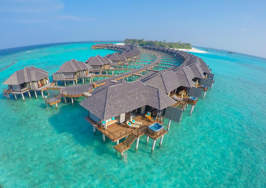 Luxury water villas