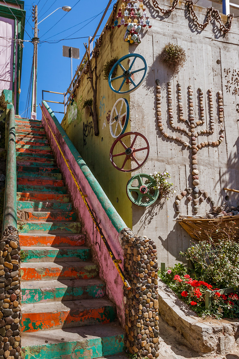 Beautiful street in Valparaiso