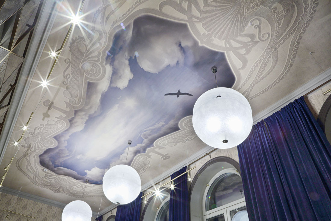 Sky painted ceiling