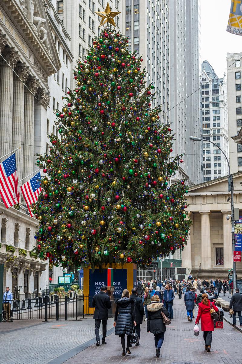 Christmas Tree on Wall St