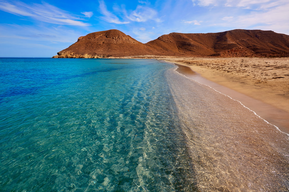 Beach with crystal clear water in Almeria