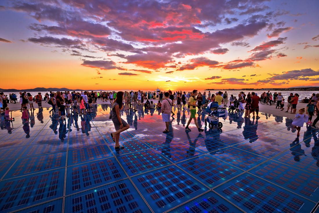 City of Zadar at sunset
