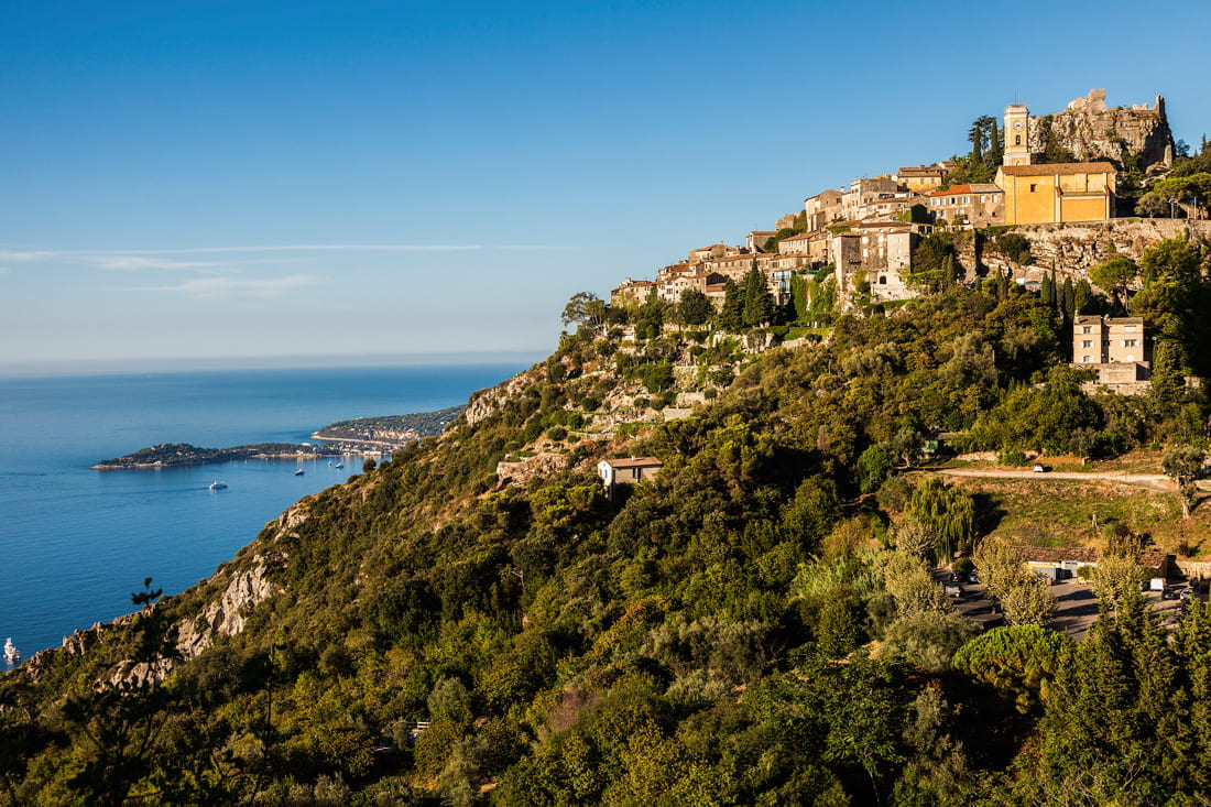 Mountaintop village on the French Riviera