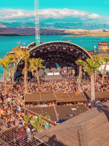 Summer music festival in Europe