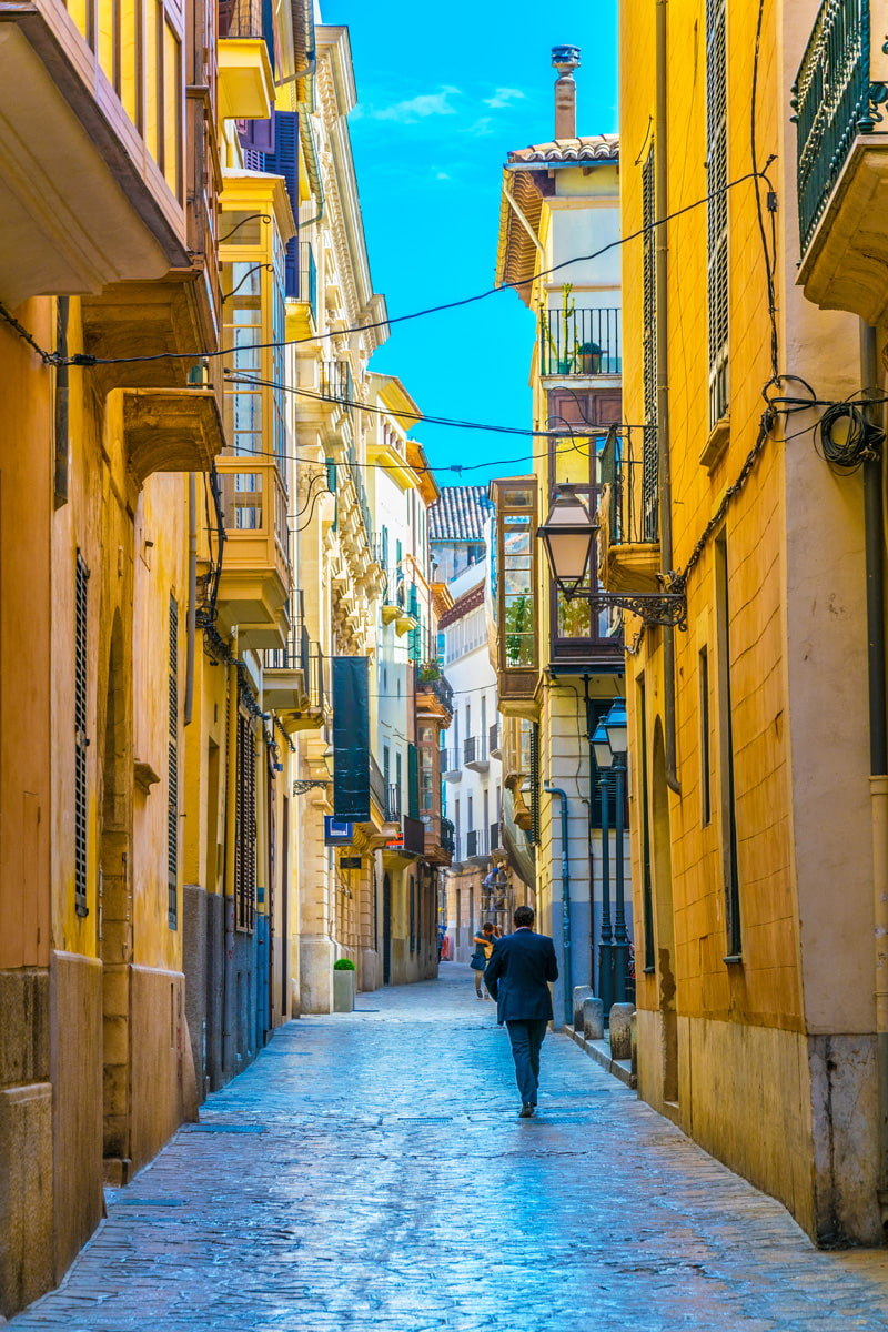 Narrow street in Palma old town