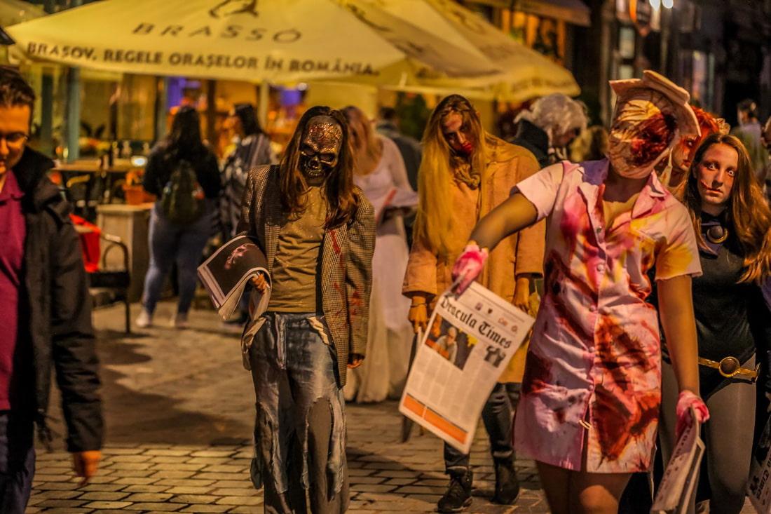 Zombie walk in Brasov
