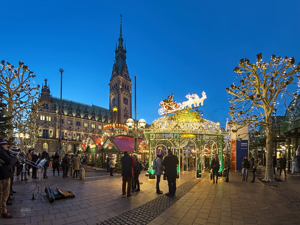 Hamburg City Hall Christmas Market