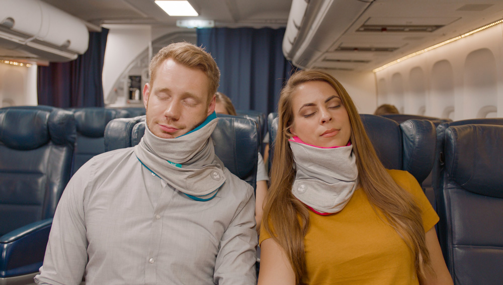 Travel pillow for long flights