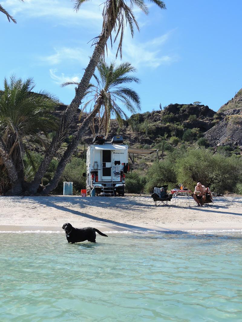 Caravan on the beach