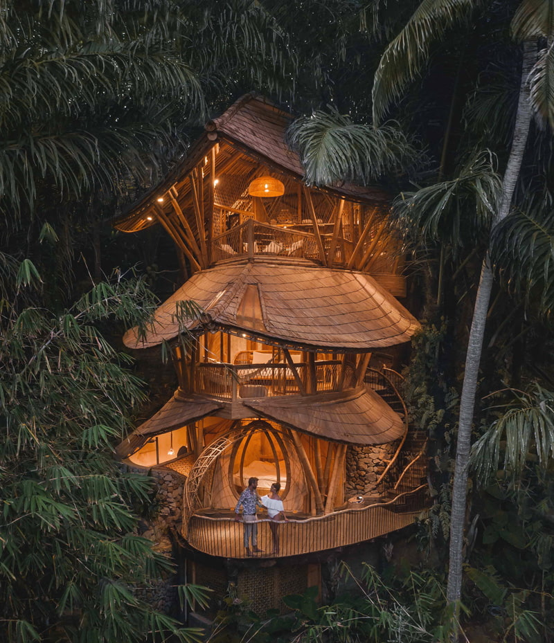 Bamboo house for rent in Bali