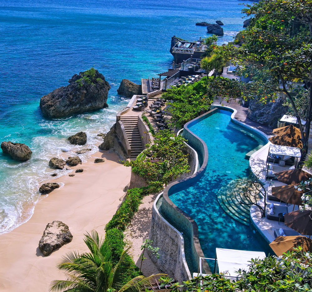 Balinese resort with its own private beach
