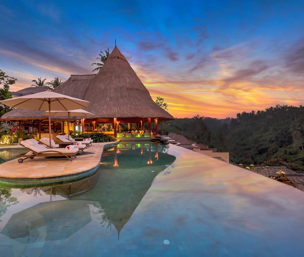 Hilltop luxury resort near Ubud