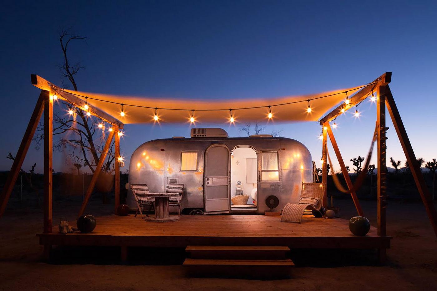 Airstream to rent in the California desert