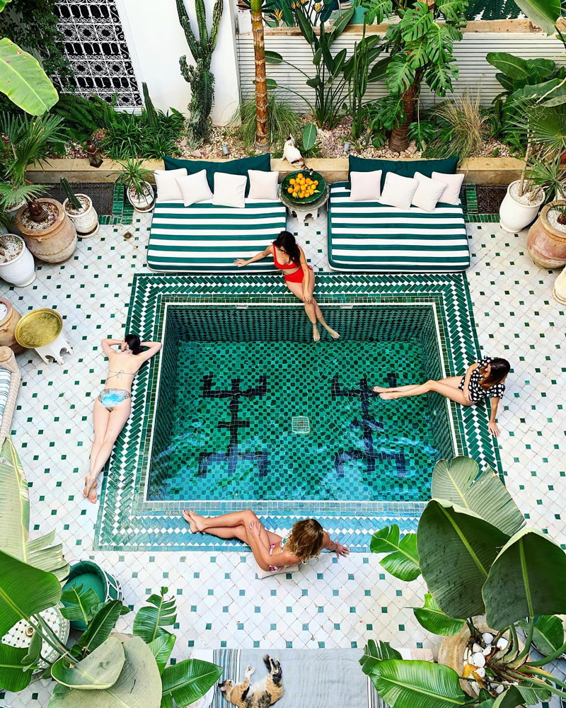 Instagrammable boutique hotel in Marrakech