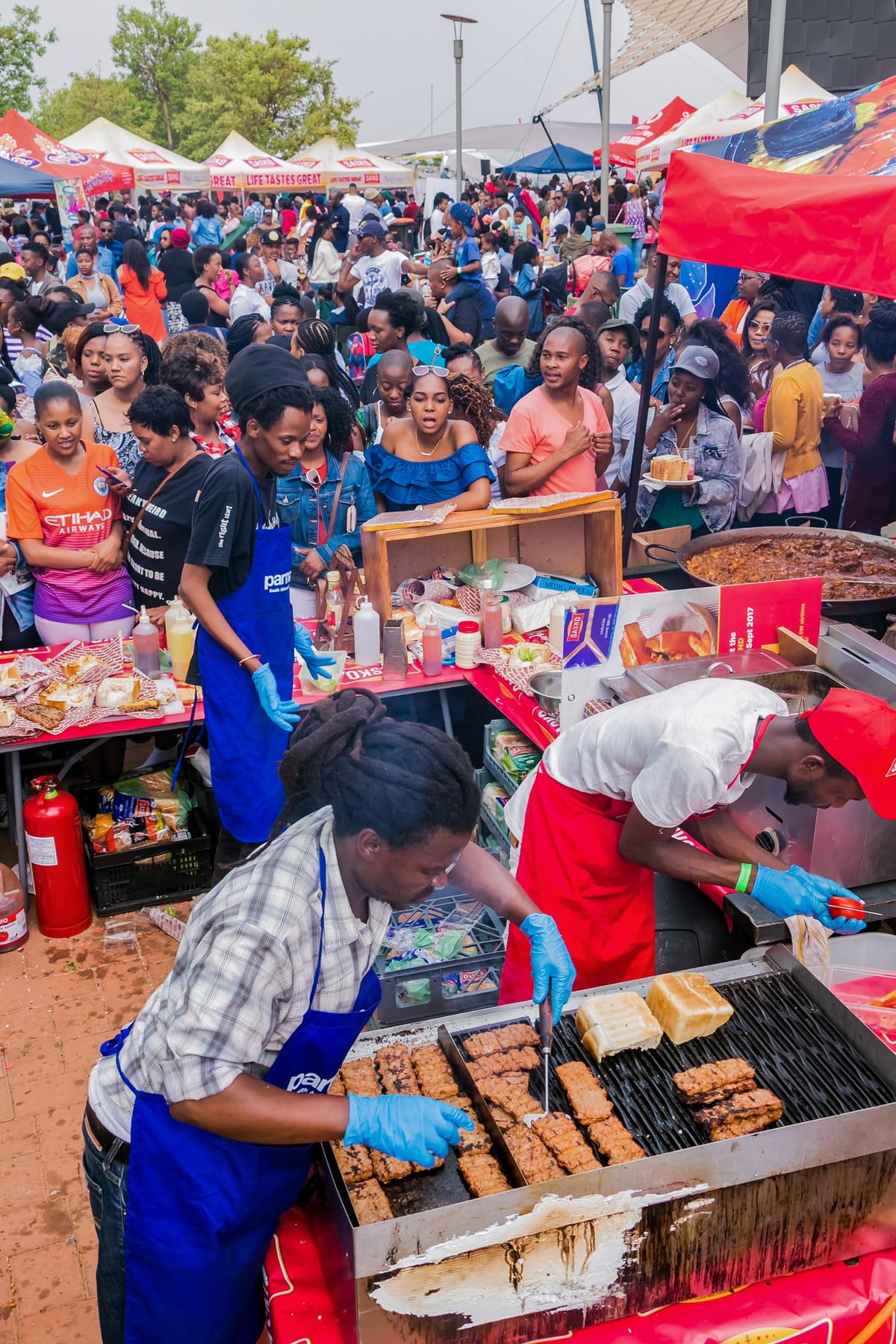 Outdoor festival in Johannesburg