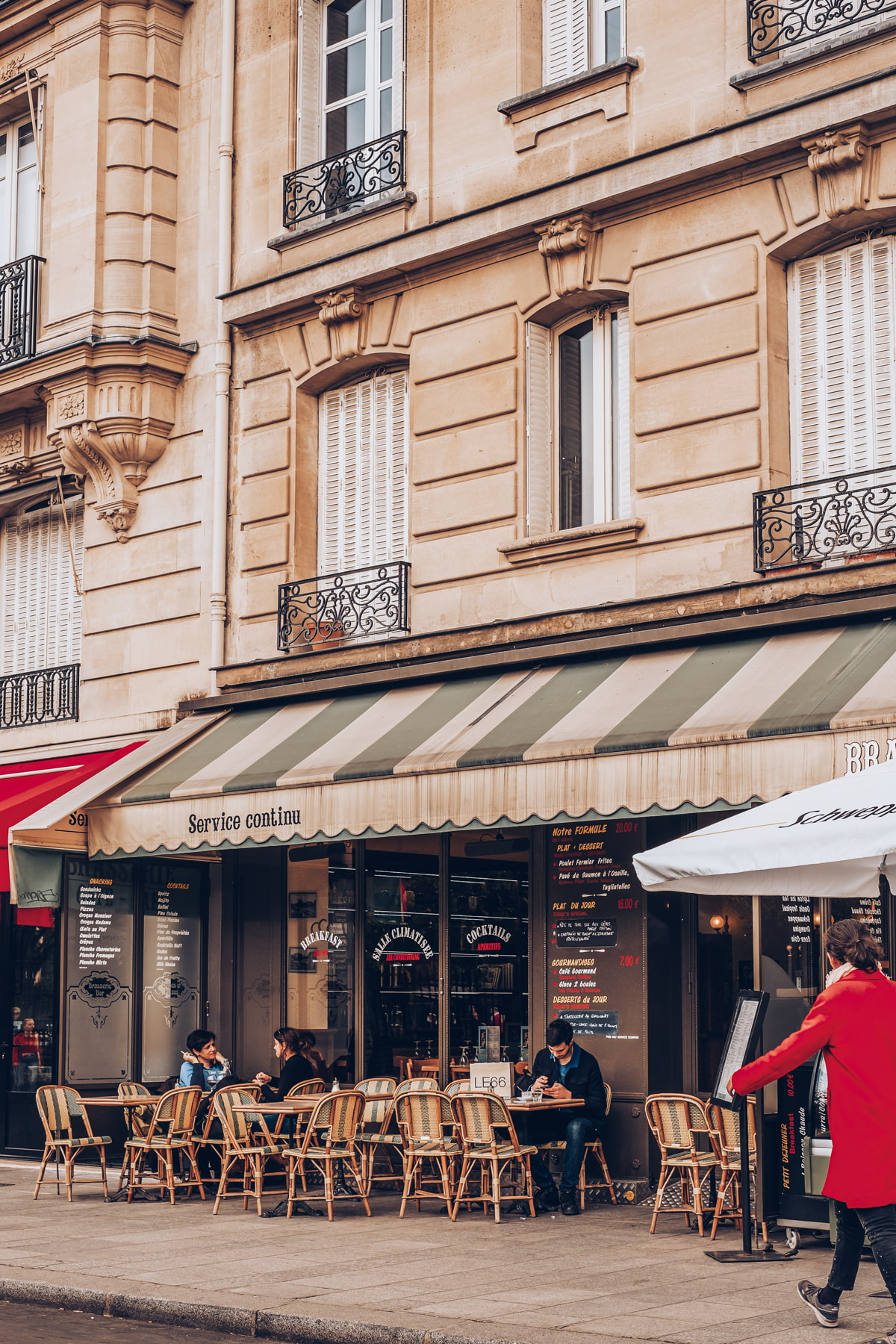Parisian cafe with terrace