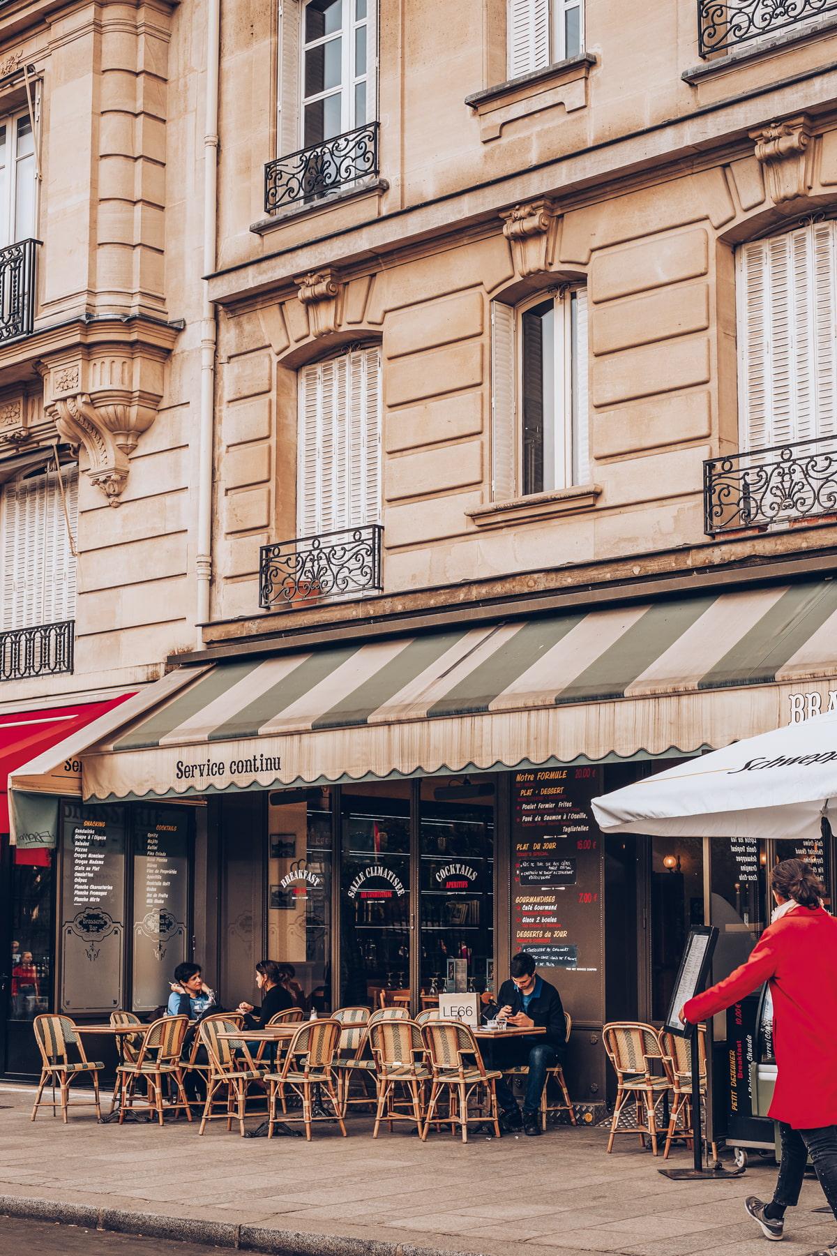 Parisian cafe with terrace