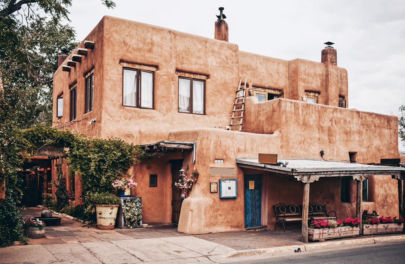 Adobe architecture in Santa Fe