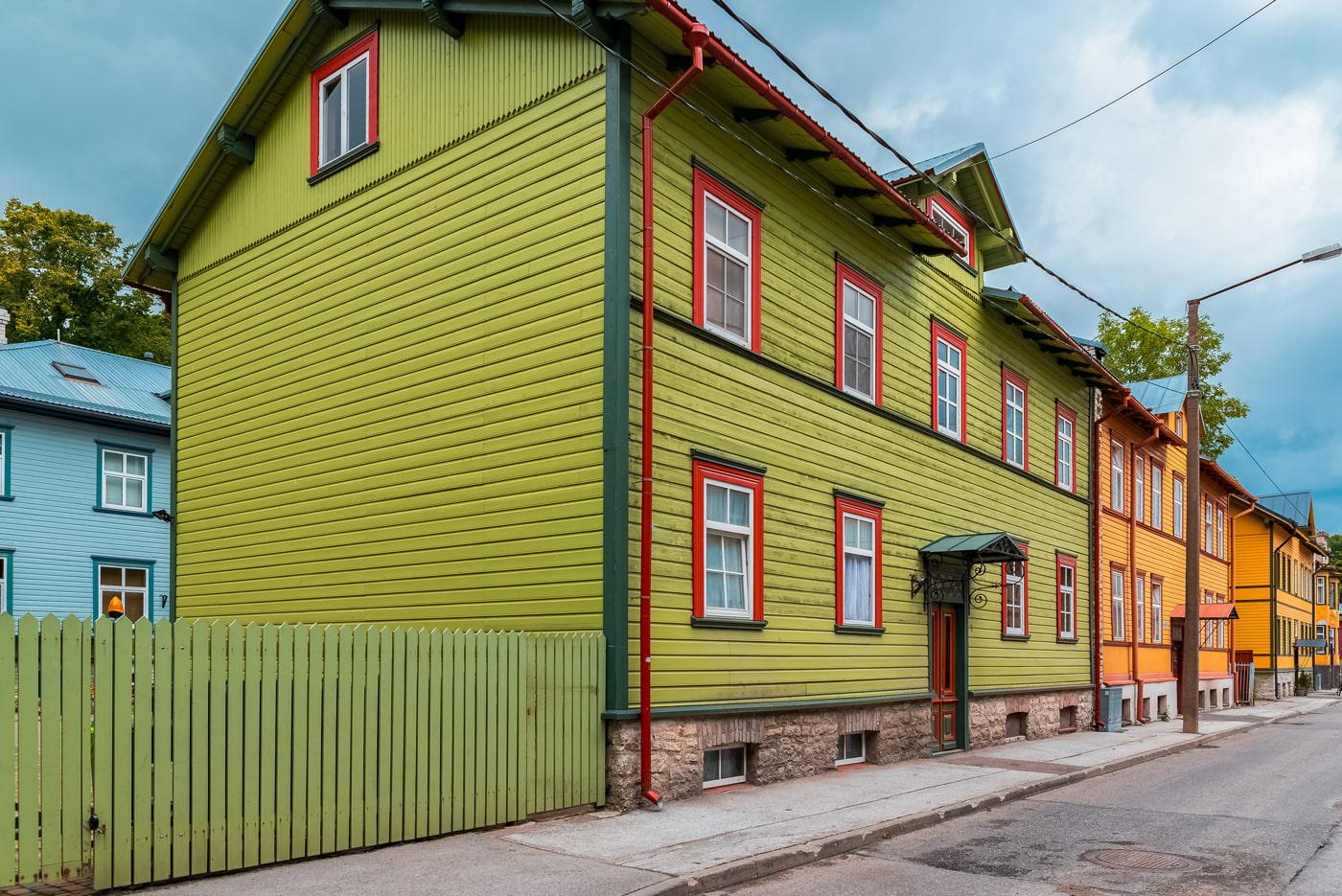 Wooden houses in Kalamaja, Tallinn