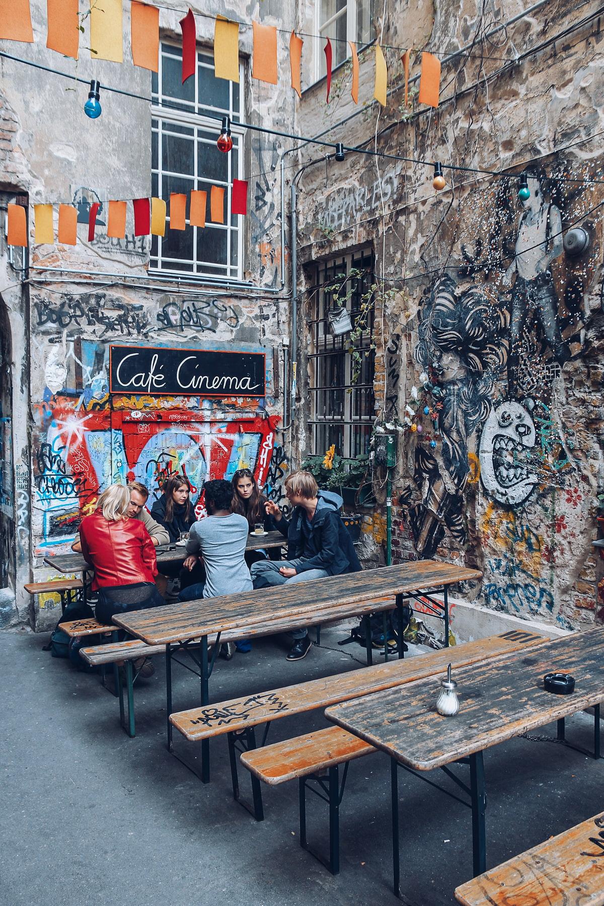 Cafe in Berlin's Hackesche Hofe
