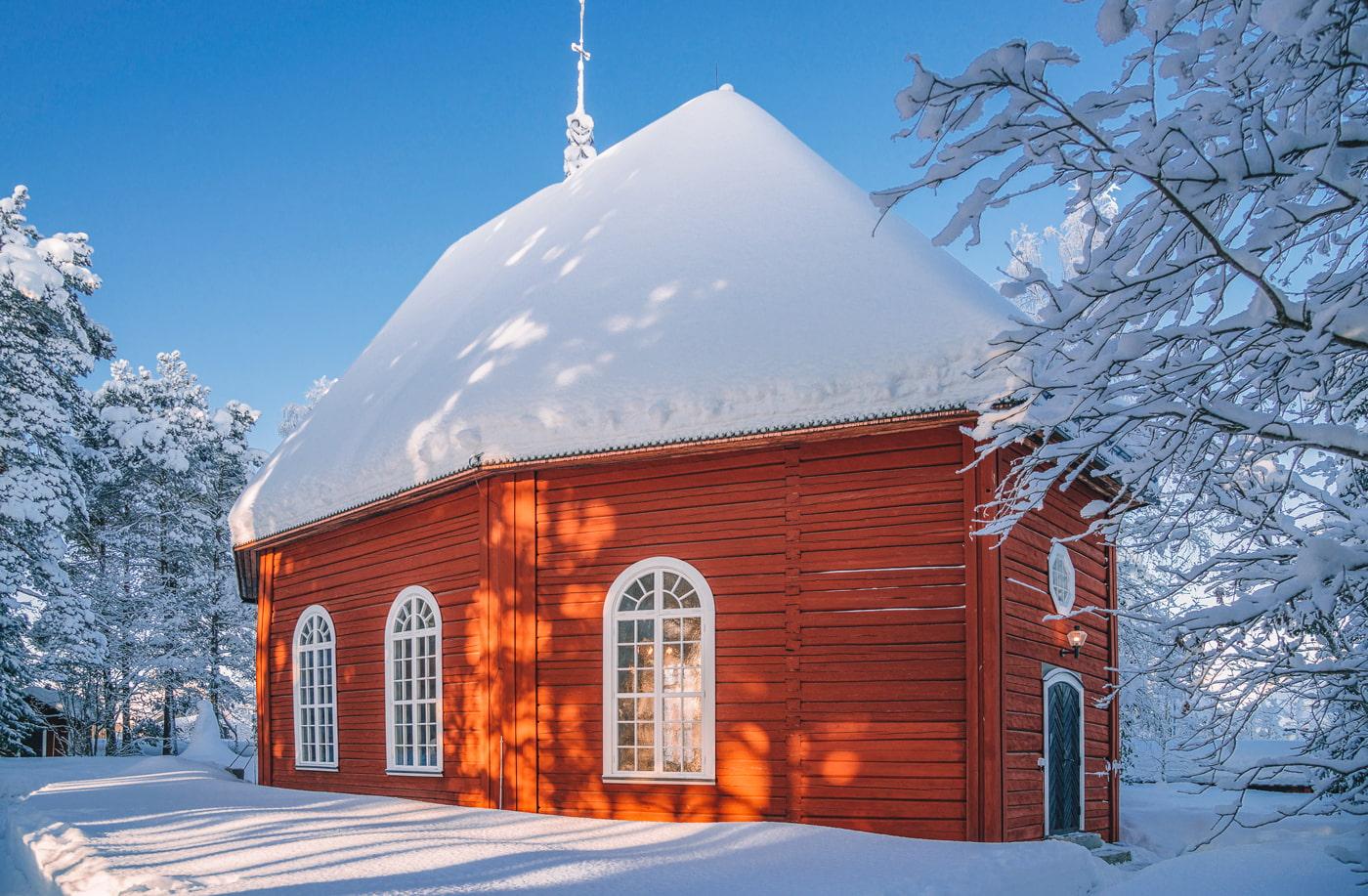 Sami church in Jokkmokk, Lapland