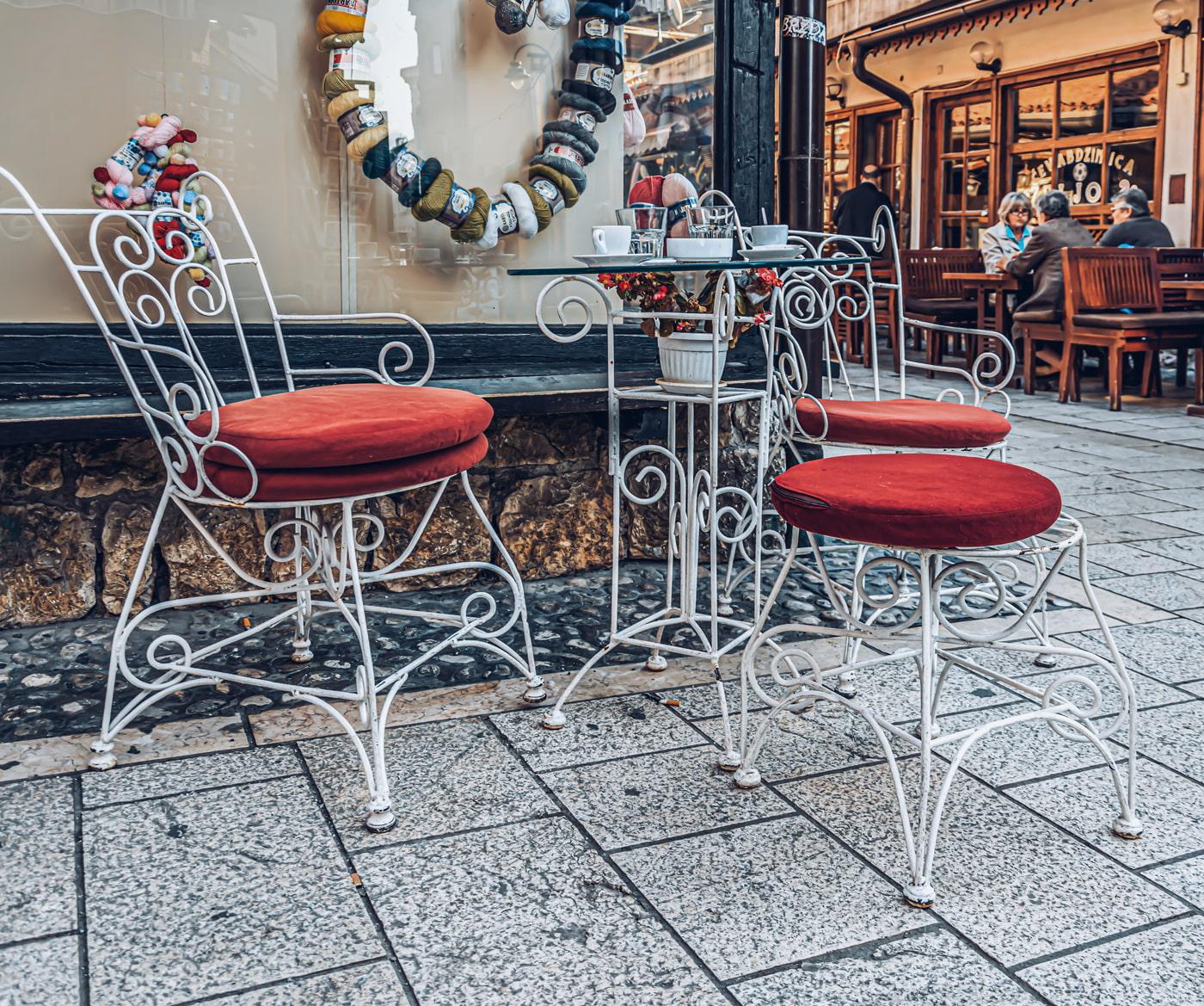 Sarajevo street cafe