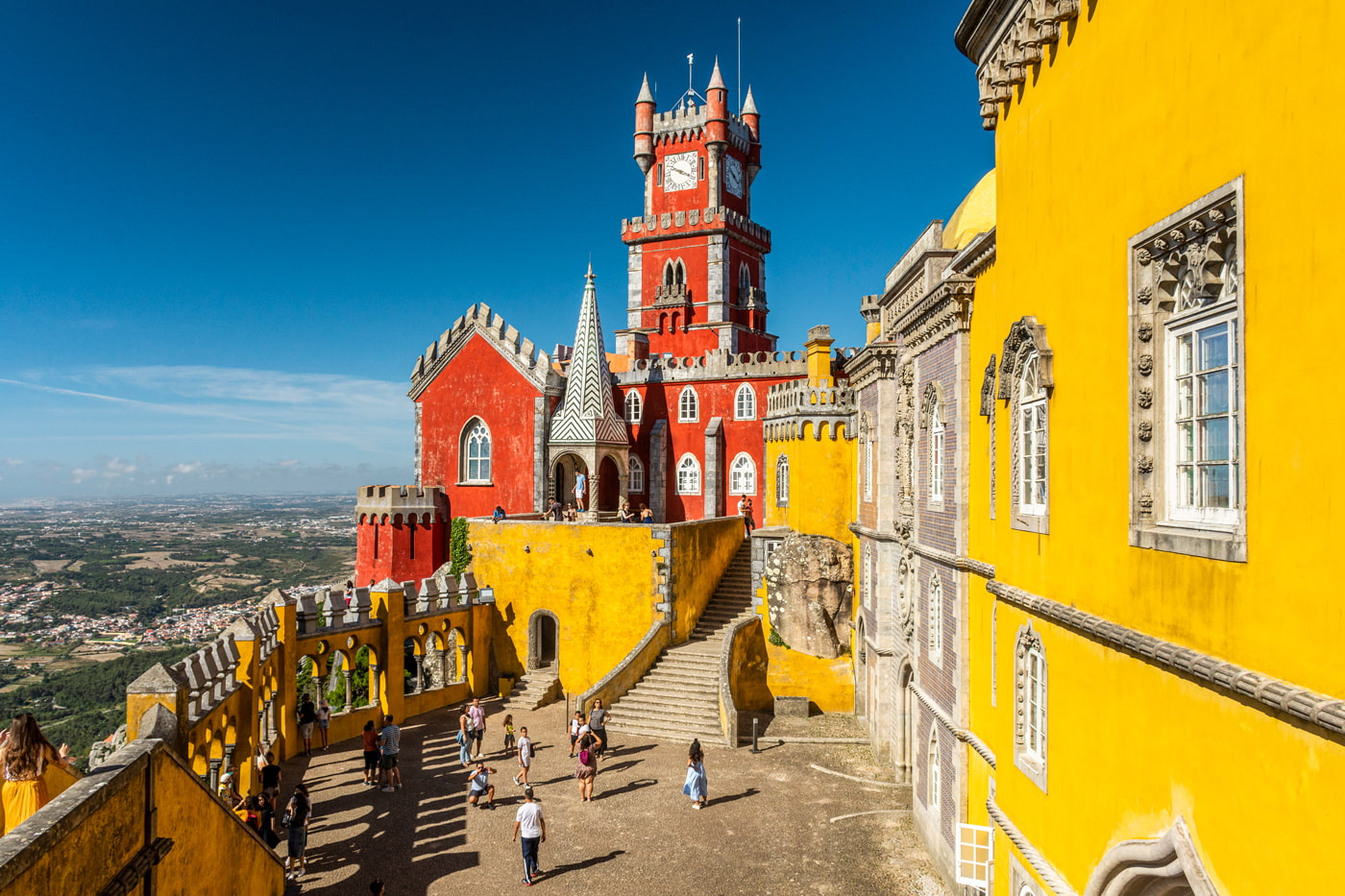Colorful castle in Sintra, Portugal
