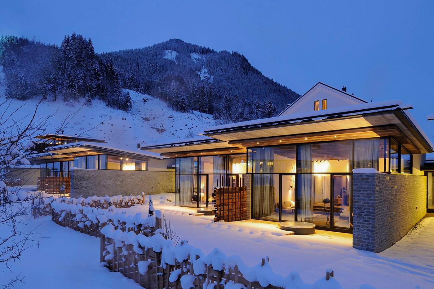 Winter hotel in Austria